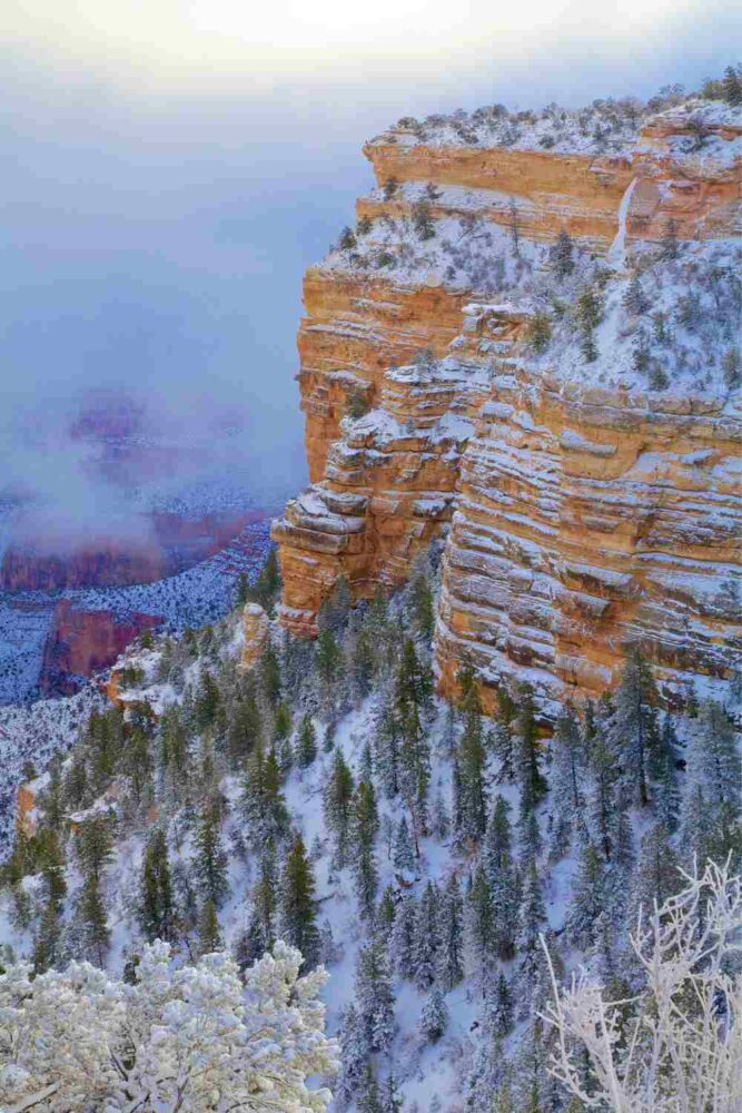 Bright Angel Trail Grand Canyon winter
