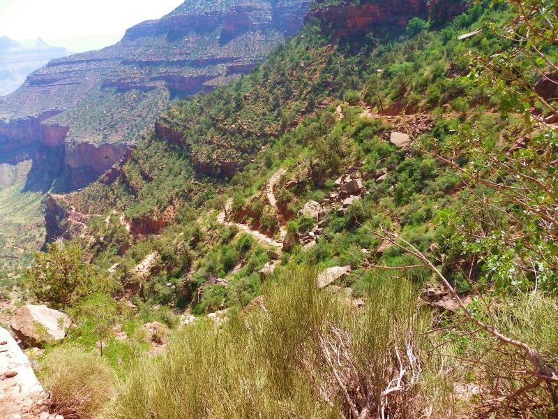 Bright angel trail resthouse grand canyon