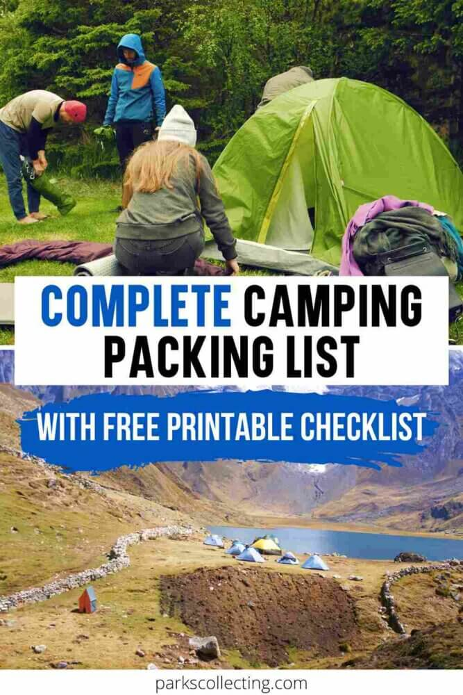 Complete Camping Packing List_ With Free Printable Checklist