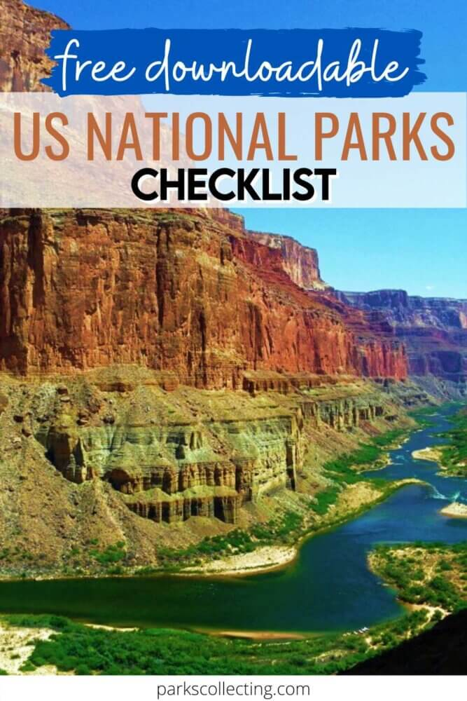 Free Downloadable US National Parks Checklist