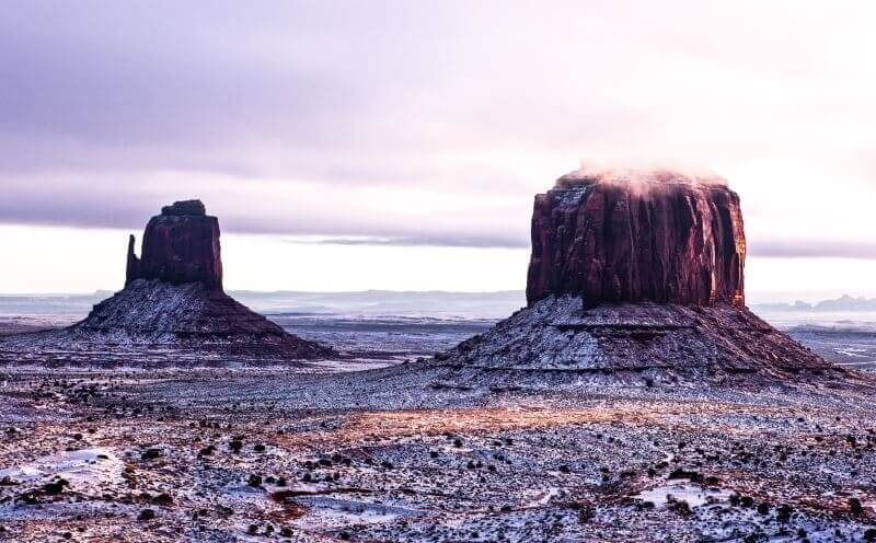 Monument-Valley-in-winter