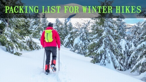Packing List for Winter Hikes