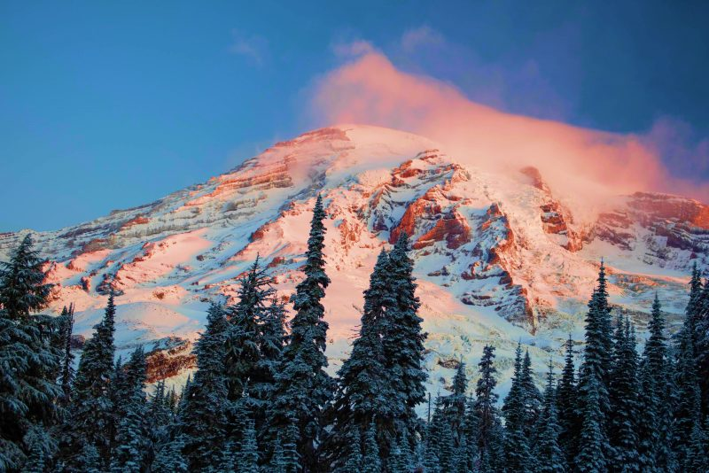 Panorama Point Trail Mount Rainer National Park winter