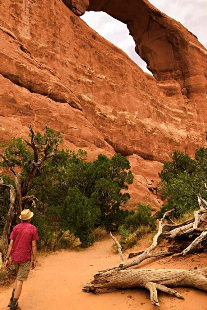 Skyline Arch one of the Best Hikes in Arches National Park