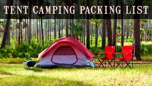 Tent Camping Packing List
