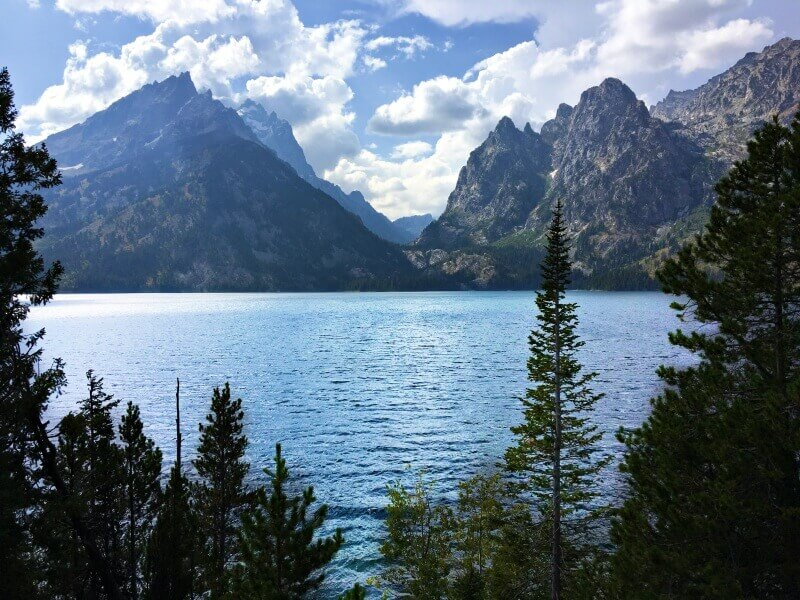 View-of-GRand-Tetons-across-jenny-Lake-afternoon