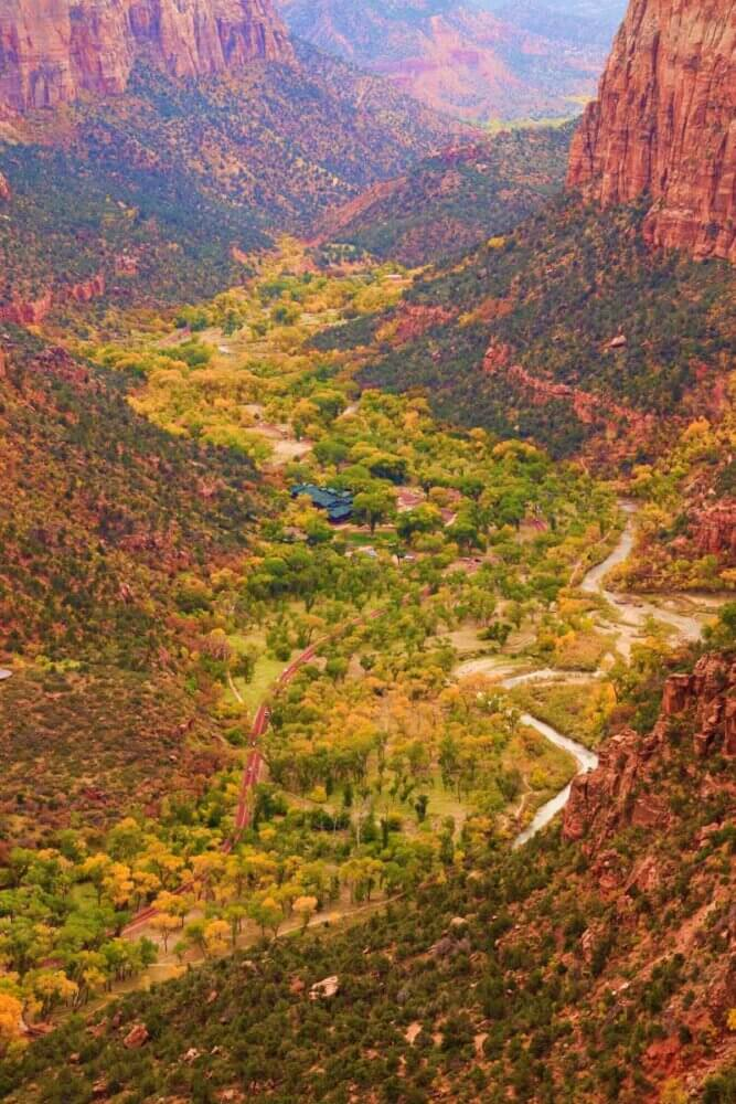 Zion national park fall