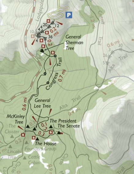 congress-trail-sequoia-national-park-map-and-Sherman-Tree-Trails-map
