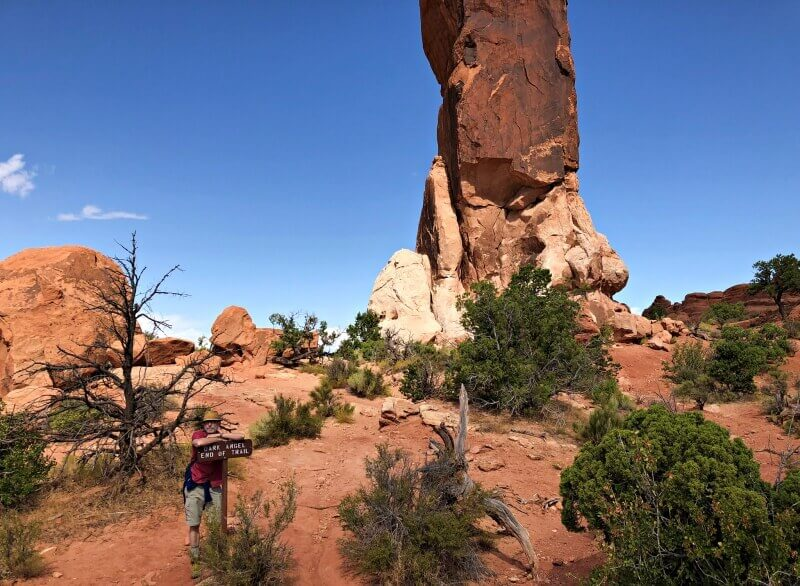 end-of-black-angel-trail-Devils-Garden-TRail-Arches-National-Park
