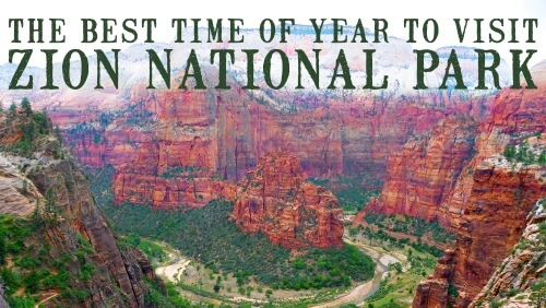 zion national park best time to visit